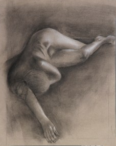 This summer I attended Columbus College of Art and Design's three week College Preview program. There, I engaged in my first figure drawing class. This is one of my highlights of the class, my final extensive charcoal drawing.