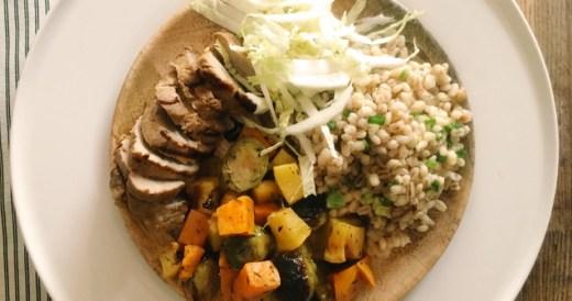 pęczotto z pieczonymi warzywami