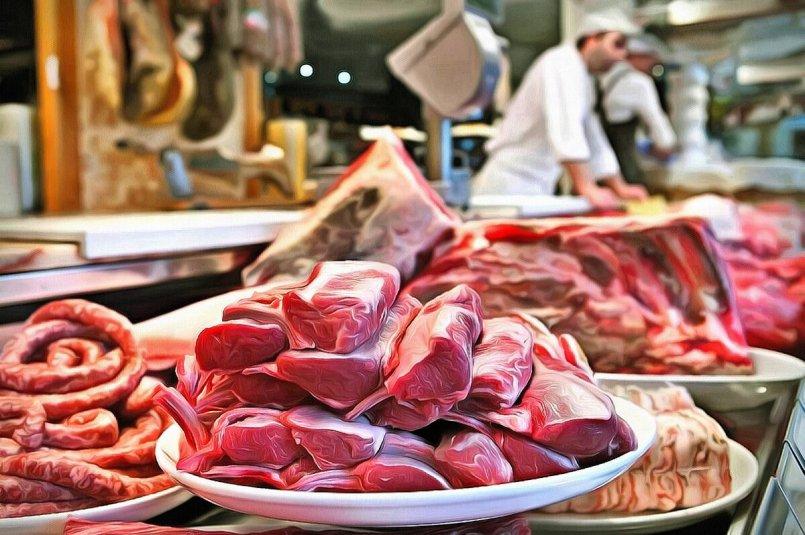 Тарель - продавец мяса