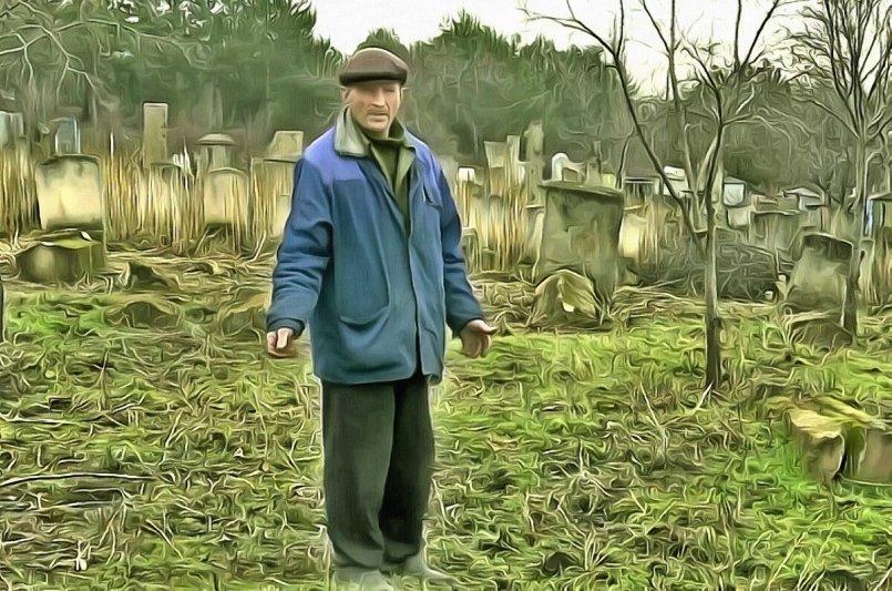 Сторож на кладбище