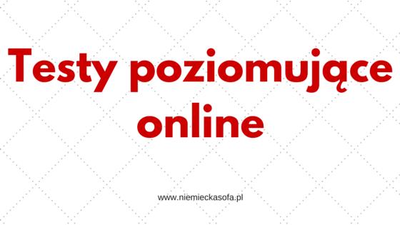 Testy poziomujące z języka niemieckiego – online