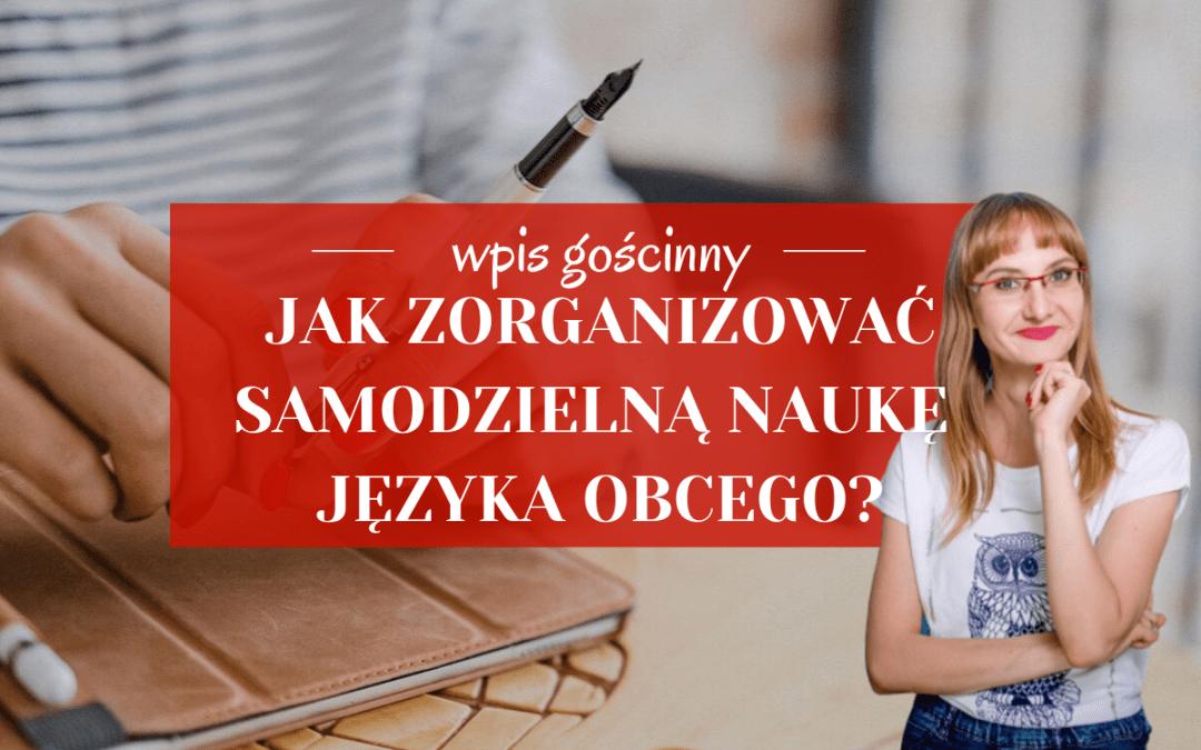 Jak zorganizować samodzielną naukę języka obcego? – wpis gościnny