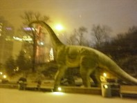 Dinosaur in the snow