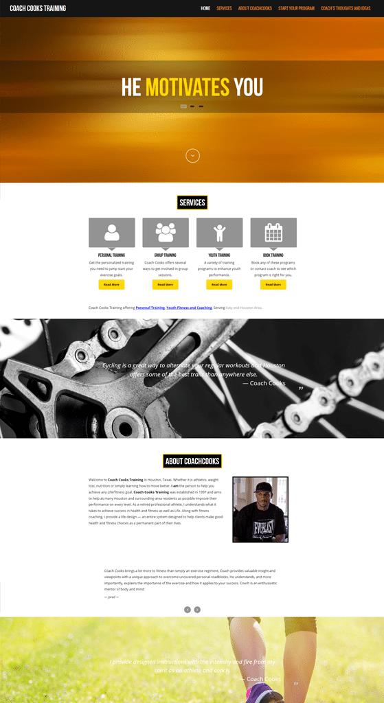 Personal Trainer Web Design