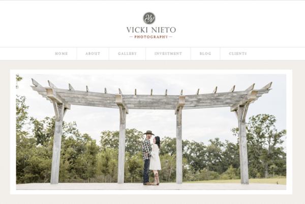 Vicki Nieto Photo Web Design