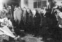 Pogrzeb - oficjele w Teatrze Witkacego 14 IV 1988