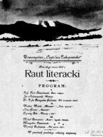 Winieta programu Rautu Literackiego, III 1902, BN