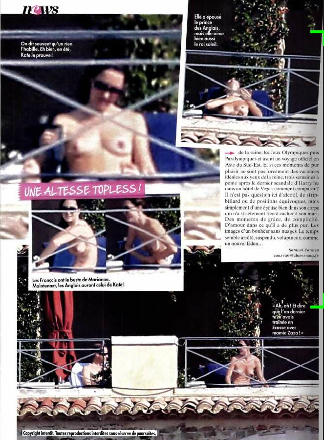 Kate Middleton naakt/topless in Franse tabloid (3)