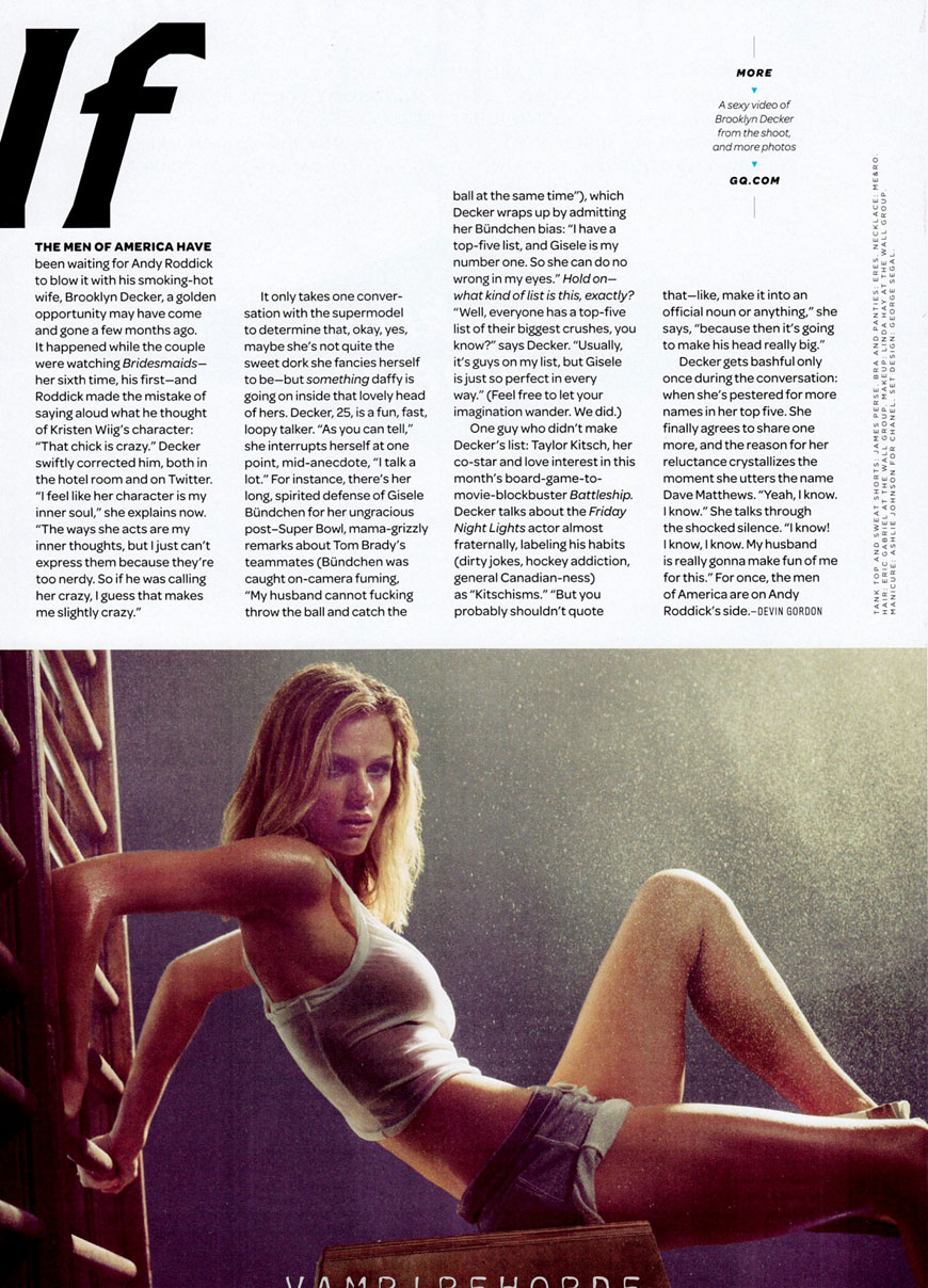 Brooklyn Decker - GQ Magazine (2)