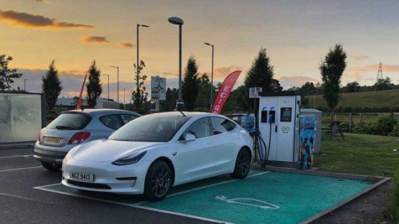 Tesla Model 3 Scotland - Charging Dumbarton