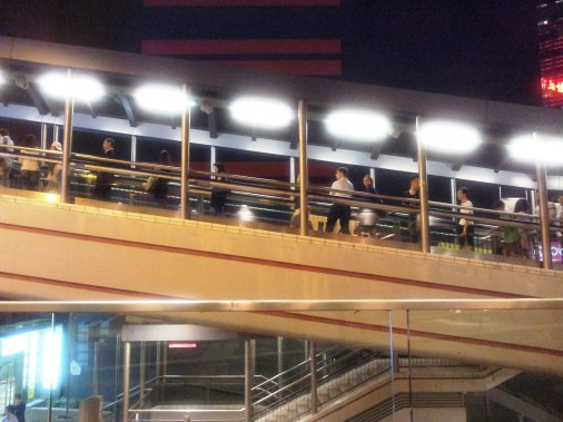 The famous escalators