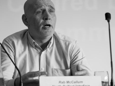 Rab McCALLUM (North Belfast Interface Network). Conference: One Place - Many People, Community Relations Council, Stormont Hotel, Belfast, Northern Ireland. @NI_CRC #CRWeek15