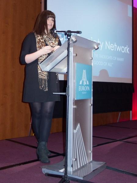 Jenna MAGHIE (NICVA). Civil Society Network launch, Europa Hotel, Belfast, Northern Ireland. #CivilSocietyNetwork