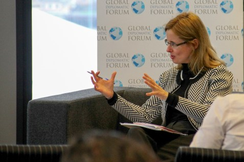 Sonya SCEATS. Ending Sexual Violence in Conflict event, Global Diplomatic Forum, London, England @DiplomaticForum (c) Global Diplomatic Forum