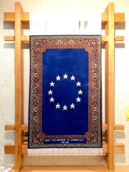European flag carpet, Gift from the Republic of Azerbaijan