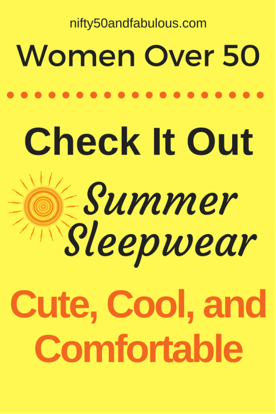 Summer Sleepwear Women Over 50