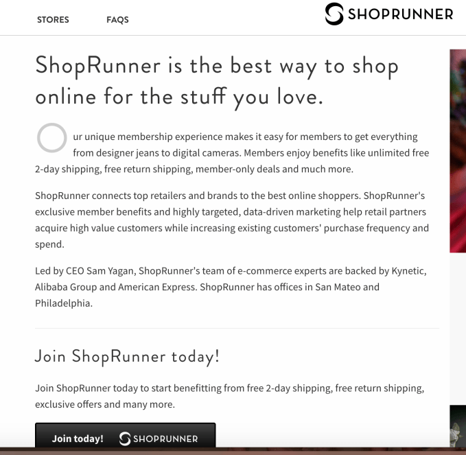 shoprunner for free shipping and free returns