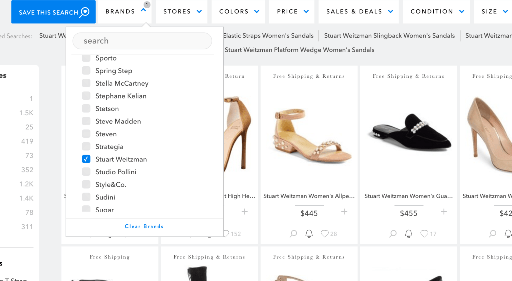 use shopstyle to save money on shoes