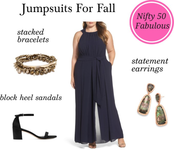 Styling Halter Neck Jumpsuit For Fall Wedding Guest Outfit