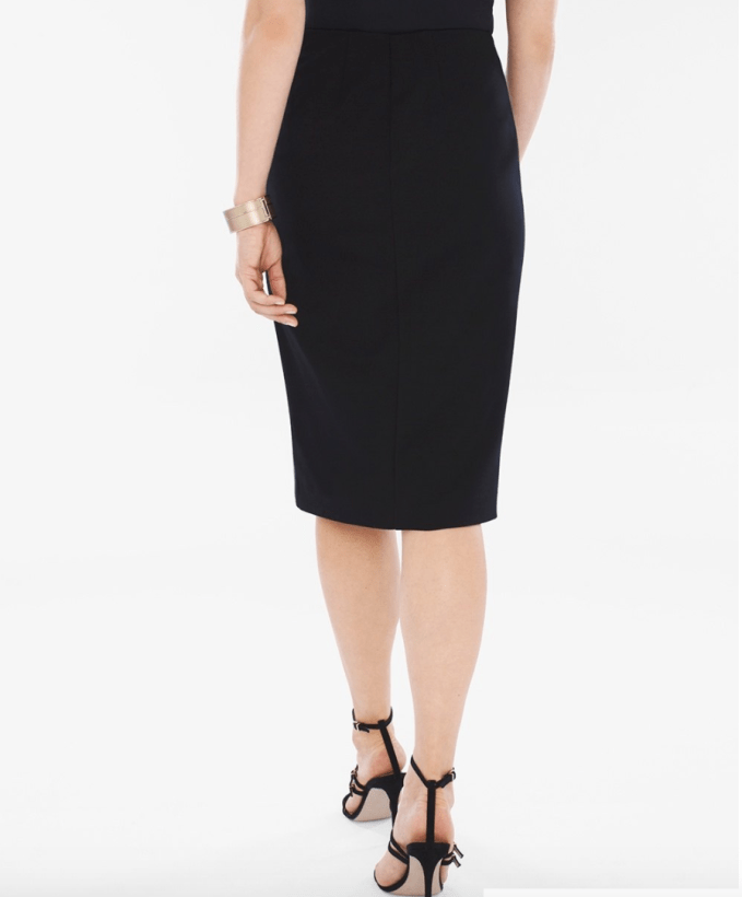 Back of Juliet Faux Leather Pencil Skirt
