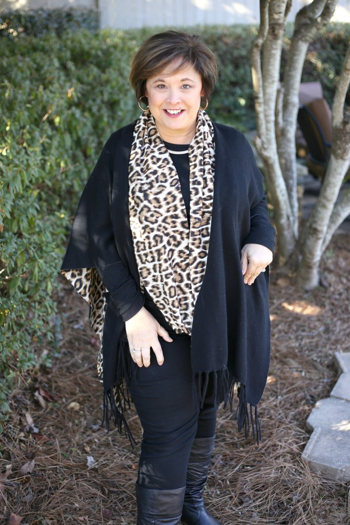 Leopard Print Reversible Ruana From Chicos