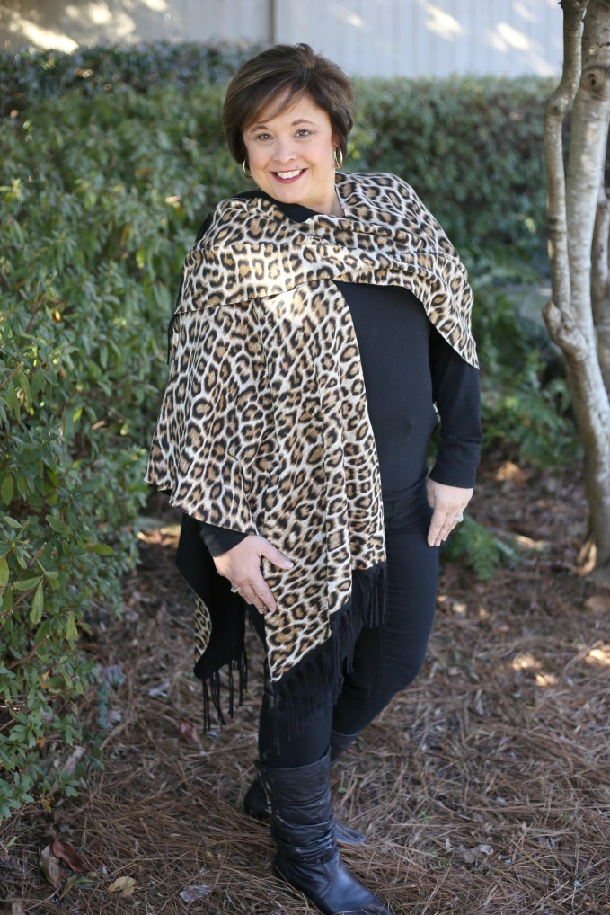 Leopard Ruana From Chicos