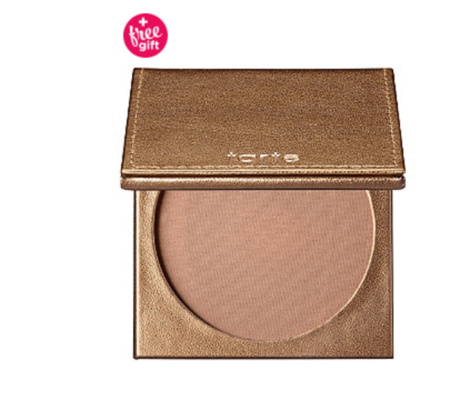 A waterproof bronzer is perfect for covering up strap marks when you choose off the shoulder top