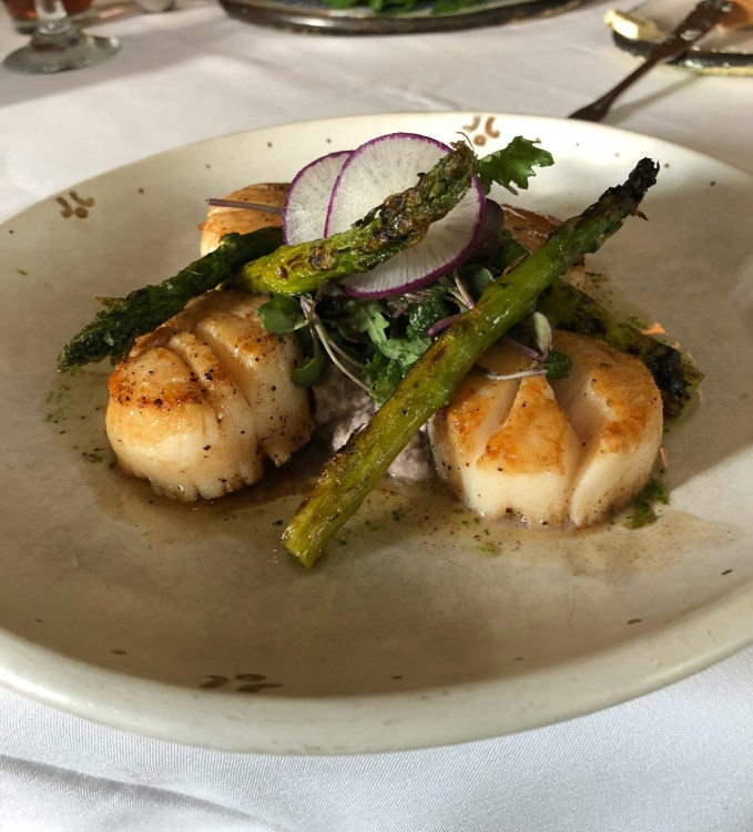 Scallop Dinner At Cafe Dupont
