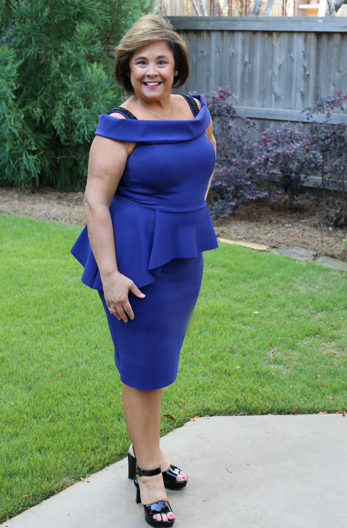 Teri Jon Dress In Royal Blue