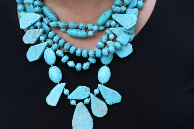Statement Necklace in Turquoise