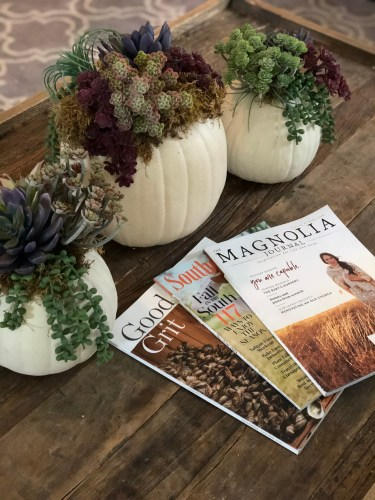 Fall coffee table decor