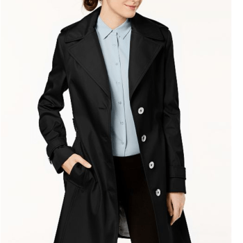 Calvin Klein Belted Waterproof Trench Coat
