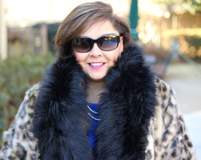 Black Faux Fur Scarf