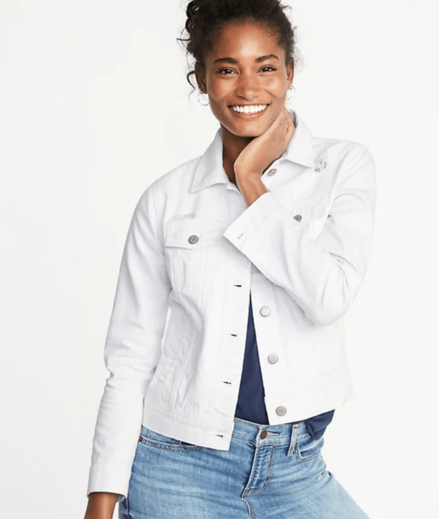 Spring Trend White Denim Jacket