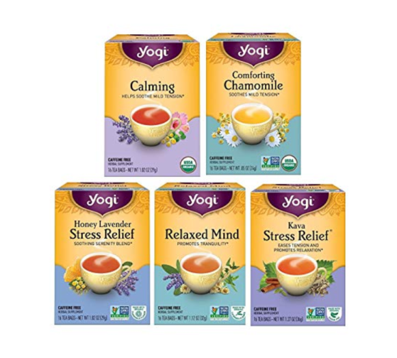 Variety pack of calming and stress relief teas