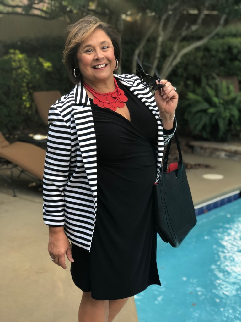 How To Style A Little Black Dress For A Professional Look. Throw on a blazer with your little black dress.  Easy office-ready look that can take you from the office to dinner.
