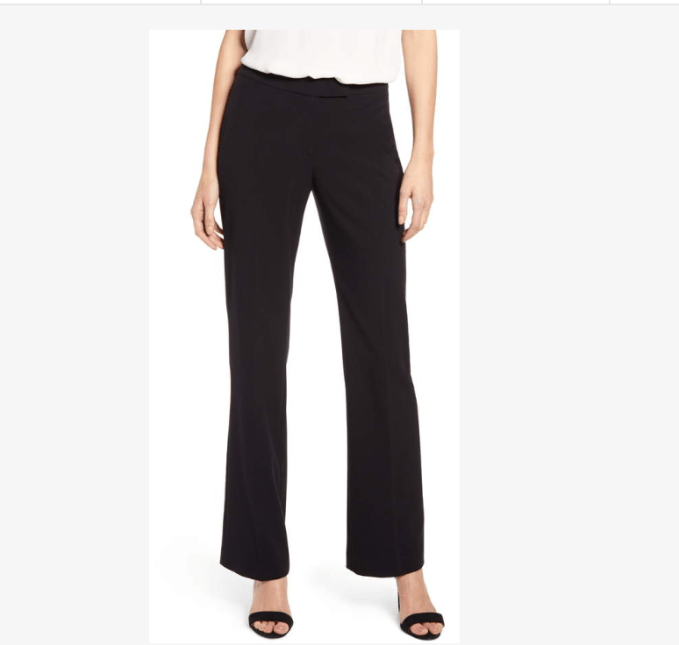 Anne Klein Stretch Flared Pants