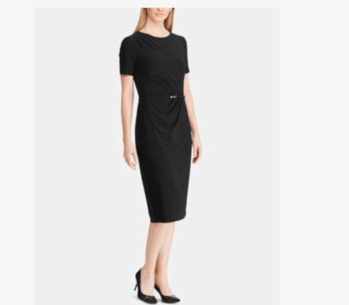 Jersey fabric makes this LBD a great choice for comfort