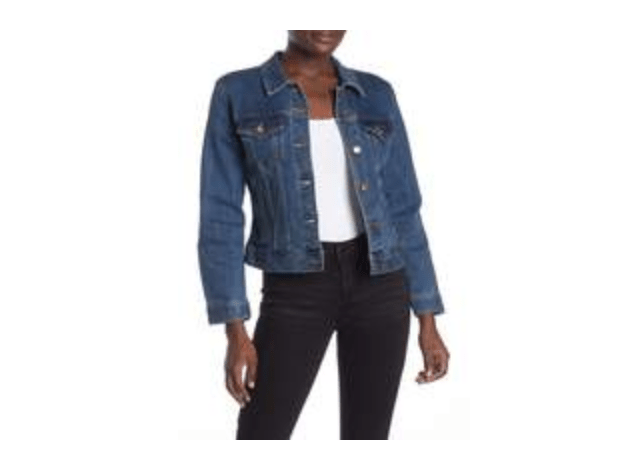 newer denim jackets are made with lighter material and cut more fitted