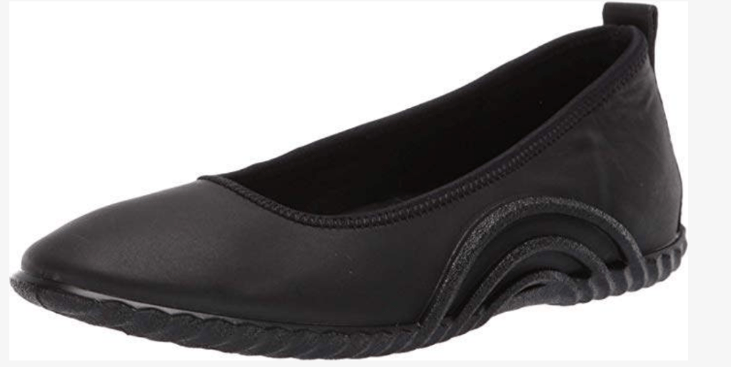 Not as dressy, the Ecco Vibrations Ballerina shoe is a great every day flat