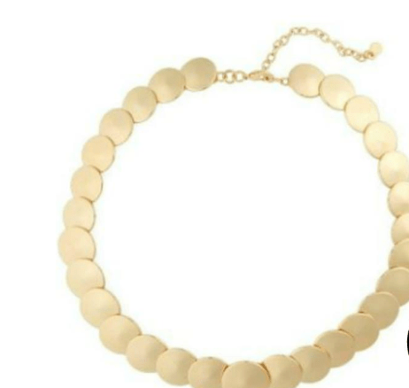 Cooler Tone Gold necklace for cool tone skin