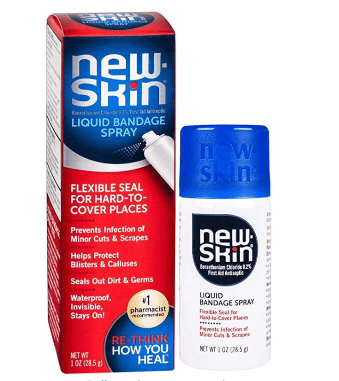 If you get a blister in an area where the bulk of a bandaid will not due. Try New Skin.  It comes in liquid and spray.