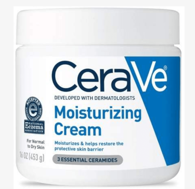 Cera Ve Moisturizing Cream creates a protective barrier and is great for dry itchy skin