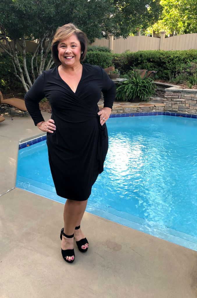 My wardrobe basic- LIttle Black Wrap Dress by Anne Klein