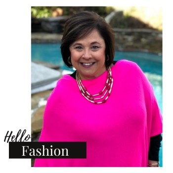 Hot Pink Poncho To Brighten Up The Day