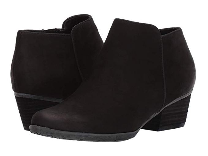 My favorite booties are Blondo Villa Waterproof Booties.  Zappos carries them (shipped by Amazon) so you can get them quickly.