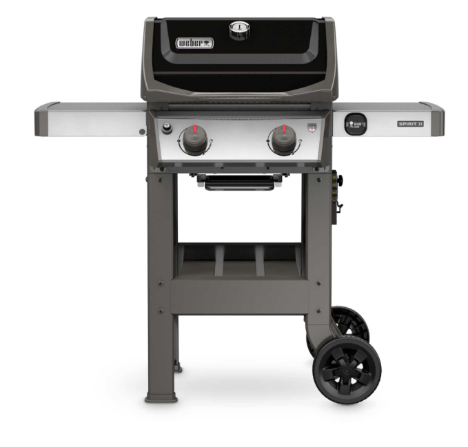 This smaller version is what my daughter has at her home.  Weber Spirit II E-210