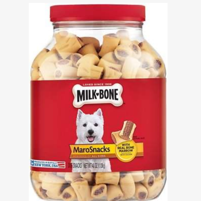 An old favorite that is still a favorite is the Milk-Bone Maro Snacks.  They will do tricks for these. You can usually find these in smaller boxes in the stores.  I buy them by the tub.