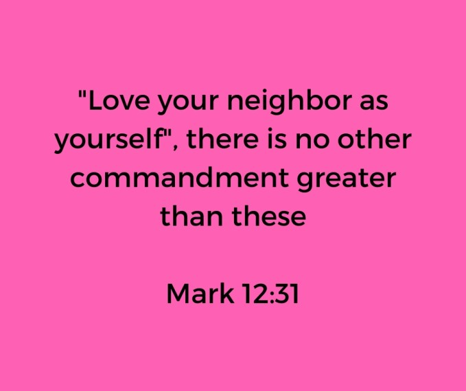 Lover people- Mark 12: 31