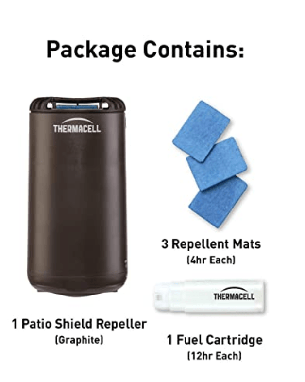 Supplies you will need for your Thermacell Patio Shield